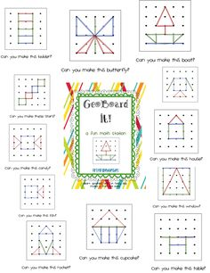 Math Station Tips and geoboard freebie