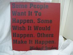 Painted+Wood+Sign++Some+People+Make+It+Happen+by+HeadSpeakSigns,+$35.00