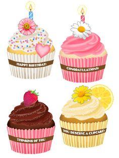 Sweet Cupcakes Sweet Cupcakes, Yummy Cupcakes, Mini Cupcakes, Decoupage, Cupcake Torte, Sweets Art, Cupcake Clipart, Cupcake Illustration, Cupcake Collection