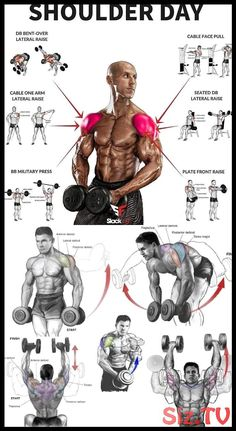 Shoulder Workout Routine To Add Serious Size To Your Shoulders. How To Get The Most Out Of This Shoulder Workout. Fitness Workouts, Weight Training Workouts, Yoga Fitness, Muscle Fitness, Health Fitness, Insanity Fitness, Barre Workouts, Muscle Diet, Trainer Fitness