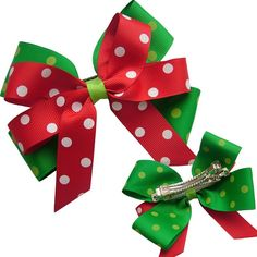 DIY Baby christmas ribbon Hair Clips | baby hair accessories ribbon, View hair ribbon styles, YAMA Product ...