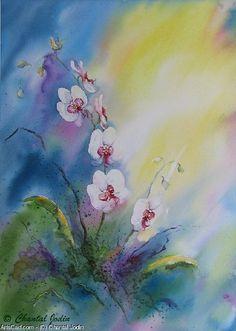 Artwork >> Chantal Jodin >> orchises in light 2