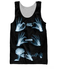Roll Up X-Ray Tank Top