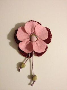 Items similar to felt handmade flower pin on Etsy Handmade Flowers, Belly Button Rings, Felt, Etsy, Jewelry, Felting, Jewlery, Bijoux, Jewerly