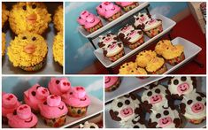 Farm Party collage 2 by larry_odebrecht, via Flickr + use mason jars w/ribbon bow for lemonade