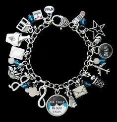 The Fault In Our Stars Themed Charm Bracelet by RedCrystalDesigns, $17.95