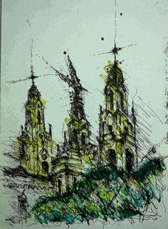 Iglesia Santa Felicitas - Barracas - Buenos Aires #sketches #croquis