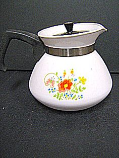 Corning Ware Spring Bouquet Tea Pot -- and I still have one with the original blue design