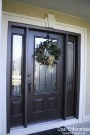 Incredible Black Exterior Doors With Glass Brilliant Black Glass Front Door And Black Front Doors Exterior Front Door Porch, Front Door Entrance, House Front Door, Front Door Colors, Glass Front Door, House Doors, Front Entrances, Front Entry, Home Front Door Design