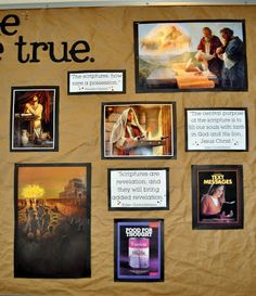 "Primary Bulletin Board Ideas for ""I Know the Scriptures Are True"""