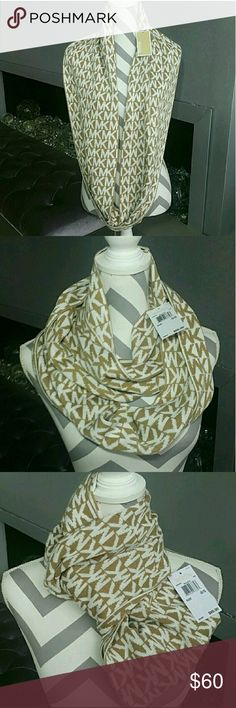 MICHAEL KORS Infinity scarf NWT 100%Authentic ,SMOKE FREE/PET FREE CLOSET  Brand new with tags 100%authentic Michael Kors tan and cream infinity scarf. Chic and classy. There are so many ways to style this scarf! Add this beauty to your collection or make it a thoughtful gift for someone you care about.   *matching hat and headband available in my closet*  🎈check out my closet for more MK accessories🎈   💖Shop with confidence💖💖 🎉🎊Suggested User🎊🎉 📮💌Same day shipping📮💌 5🌟🌟🌟🌟🌟…