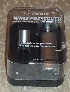 Metrokane Rabbit Wine Preserver with V-Gauge  6510