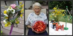 """A collage of a Swedish Midsummer party by cascadelunacreations.  she writes, """"We made wreaths of flowers for our hair. Our guests were treated with gift wrapped, hand poured soaps from the farmers market as party favors."""""""