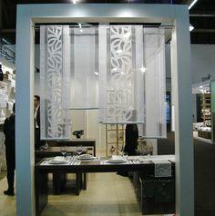 Details Zu Flächenvorhang, Schiebevorhang, Stickerei Gardine, Paneel Welle,  40 Cm, 60 Cm