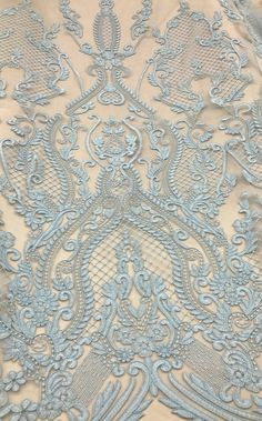 Embroidered Lace Fabric, Embroidery Fabric, Embroidery Stitches, Embroidery Patterns, Machine Embroidery, Lace Patterns, Textile Patterns, Decorative Metal Screen, Lace Art