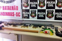 #Noticia: Polícia mata três assaltantes durante tentativa de roubo a banco em Santa Catarina.