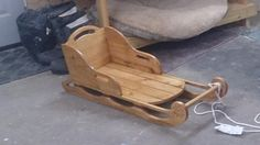 Wood Sled - Woodworking creation by Chris Tasa