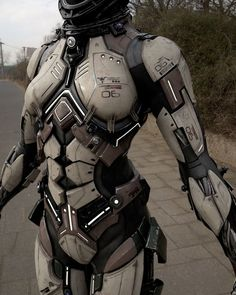 Female Futuristic Body Armor -