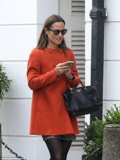 Pippa Middleton Displays Her Toned Legs In A Mini Skirt
