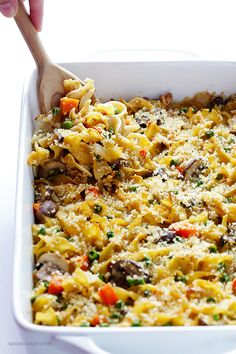 Lighter Tuna Casserole -- tastes just like the classic dish, but lightened up with fresh ingredients