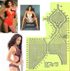 Crochet Swim Suits - DEHolford - Álbuns da web do Picasa
