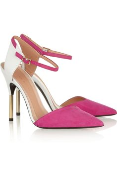Roland Mouret|Leather and suede pumps