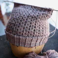 Interesting knit stitch pattern on this hat