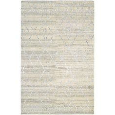 Couristan Casbah Sikar Natural-Ivory Hand-Knotted Wool Rug - 8' x 11' (Size), Ivory, Size 8' x 11'