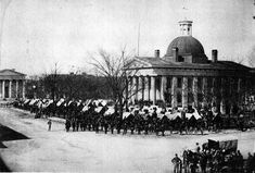 Union Army troops occupying Courthouse Square in Huntsville, following its capture and occupation by federal forces in 1864.