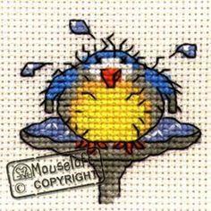 VAT Free Mouseloft Christmas Stitchlet Merry Robin Bird Counted Cross Stitch Kit