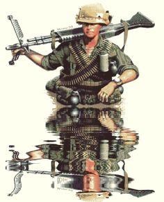 U.S. Army in Vietnam war pin by Paolo Marzioli