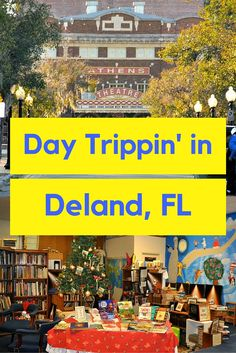 Deland is such a cute little town, nestled in the middle of the state. The famous Athens Theatre is located there as well as the 150 year old Stetson Mansion. Quaint cafes and boutiques line the main streets. Florida Travel, Travel Usa, Backpacking Europe Tips, America And Canada, North America, Deland Florida, Park Resorts, Us Travel Destinations, Travel Info