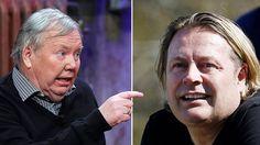 Runar Sögaard och Bert Karlsson i bråk om flyktingpengar   Affärsvärlden jaa vem är girigbuken i det här?