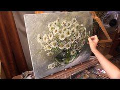 """Цветочное"" Живопись маслом. Process of creating oil painting. 油畫 - YouTube"