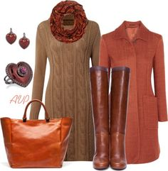 """Autumn Sweater Dress"" by amy-phelps on Polyvore"