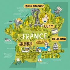 James Gulliver Hancock   - map of recent movies set in France