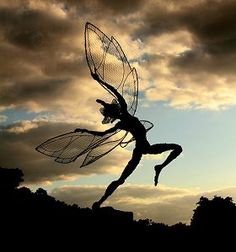 Fantasy Wire Fairies Sculptures Robin Wright
