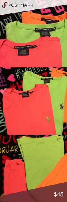 Polo shirts Polo sport shirts... all 3 for price listed! Polo by Ralph Lauren Tops Tees - Short Sleeve