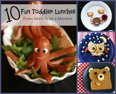 Made to be a Momma. : 10 Fun Toddler Lunches