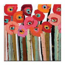 Stemmed Poppies Close Up 2 by Anna Blatman Art Print on Canvas