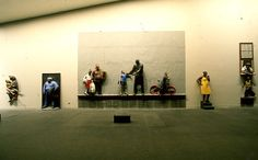 Carnegie International 1985 at Carnegie Museum of Art Pittsburgh: John Ahearn, installation view