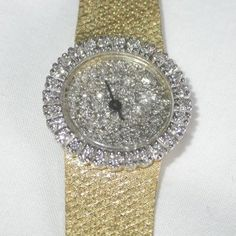 14K Yellow Gold Ladies Designer Watch with by qualityvintage, $1249.99