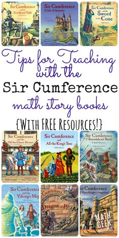 Tips for Teaching Math with Sir Cumference Using the Sir Cumference books to teach math is such a fun way to engage kids! Learn more about these stories, plus get FREE lessons to use along with the books to explore in a hands on way! Math For Kids, Fun Math, Math Games, Math Activities, Math Resources, Math Math, Math Literacy, Math Education, Literacy Centers