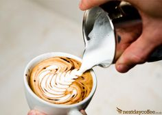Pouring #Coffee Latte Art
