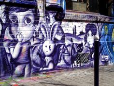 Paris street art by Jordane Jone Old School Fashion, Graffiti Characters, Best Street Art, Boy Character, Love And Respect, Paris Street, Urban Art, Around The Worlds, Painting