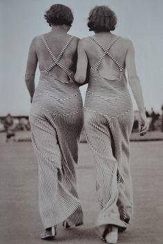 Beach pyjamas, c. 1930.