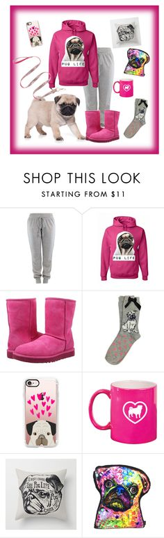 """""""Pug Life"""" by puppylove7 ❤ liked on Polyvore featuring UGG Australia, Casetify and Betsey Johnson"""