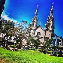 Washington Square Park in North Beach.  My favorite place (outside of Italy) to enjoy a gelato.