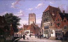 Scène de rue à Amsterdam de Willem Koekkoek (1839-1895, Netherlands)