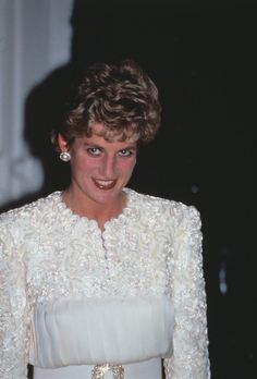 March 3, 1993: Princess Diana at a reception given by the Prince Dipendra…